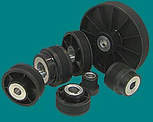 muti-ribbed nylon pulleys