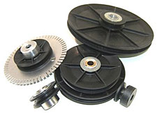 custom round belt pulleys
