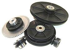 custom round belt pulleys
