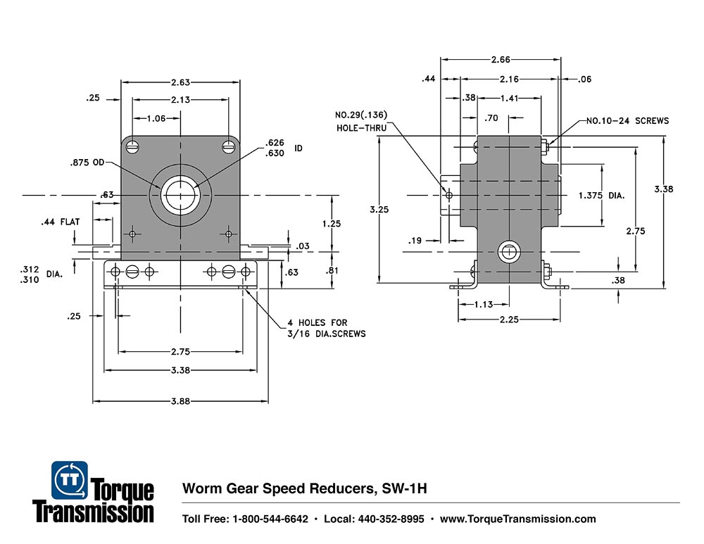 SW-1 Worm Gear Speed Reducer | Torque Transmission